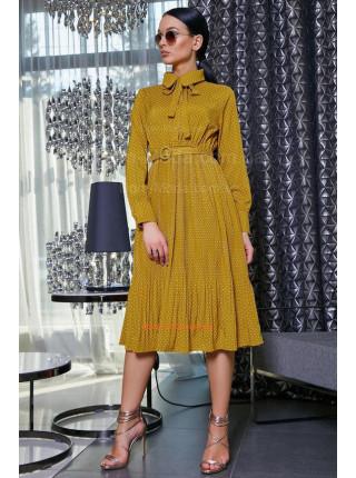 Элегантное платье короткое с длинным рукавом