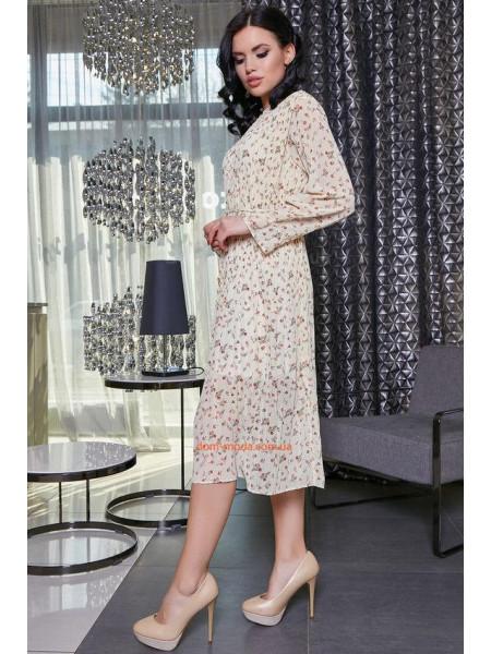 Женское платье миди в ретро стиле