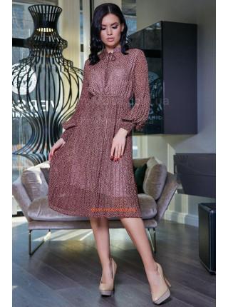 Стильне плаття із довгим рукавом на підкладці