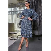 Стильное миди платье женское с поясом