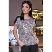 Легкая женская футболка со звездой