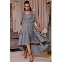 Модное объемное платье женское с рукавом