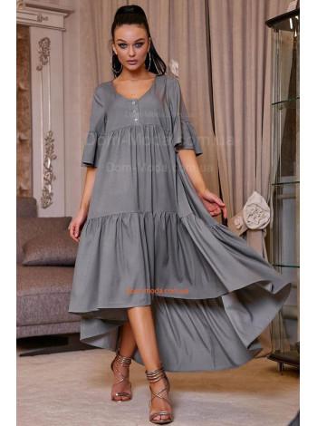 Модна об'ємна сукня жіноча із рукавом