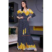 Жіноче літнє максі плаття в горох