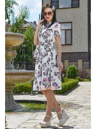 Літнє плаття сорочка із коміром