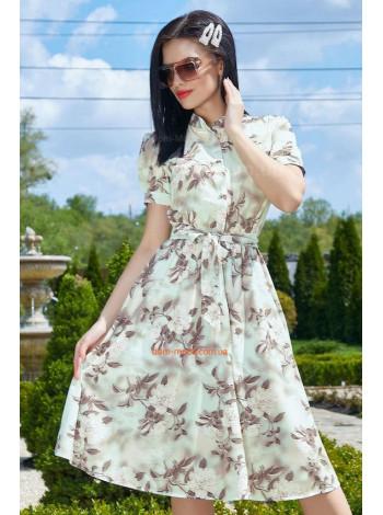 Летнее платье рубашка с воротником