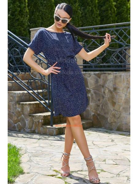 Коротке літнє плаття в принт із невеликим рукавом