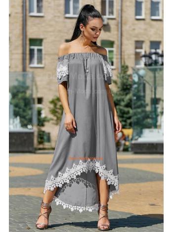 Модный летний сарафан с поясом и симметричным низом