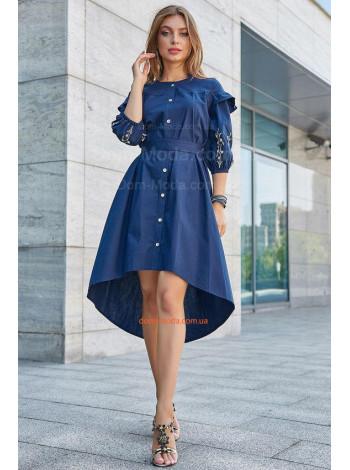 Модное платье женское с вышивкой на рукавах