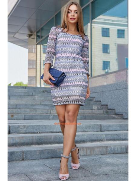 Коротке жіноче плаття із рукавом із сітки