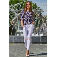 Білі літні жіночі штани