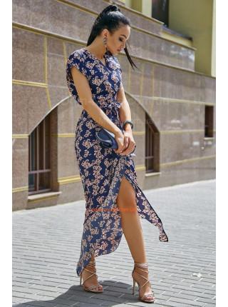 Літня довга сукня на запах