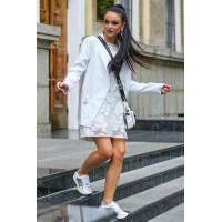 Стильный женский белый пиджак