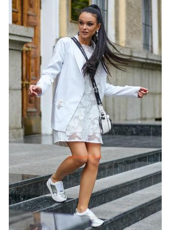 Стильний жіночий білий піджак