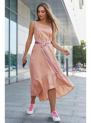 Жіночий літній сарафан із модним поясом