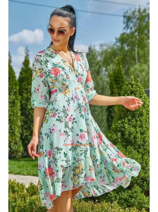Легке літнє плаття із декольте