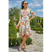 Легкое летнее платье с декольте