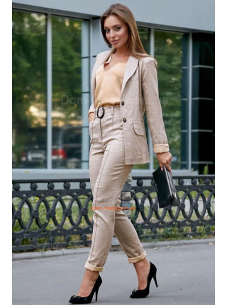 Женский модный льняной костюм