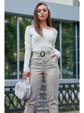 Женская стильная кофта с открытыми плечами и рукавом