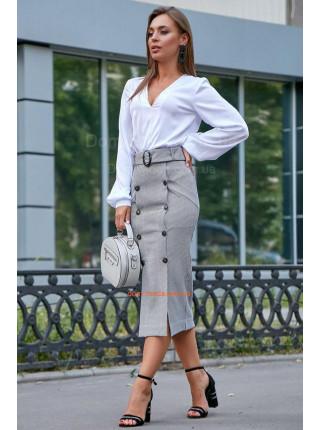 Женская юбка карандаш с высокой талией