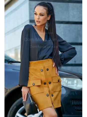Женская стильная блузка с длинным рукавом на манжете