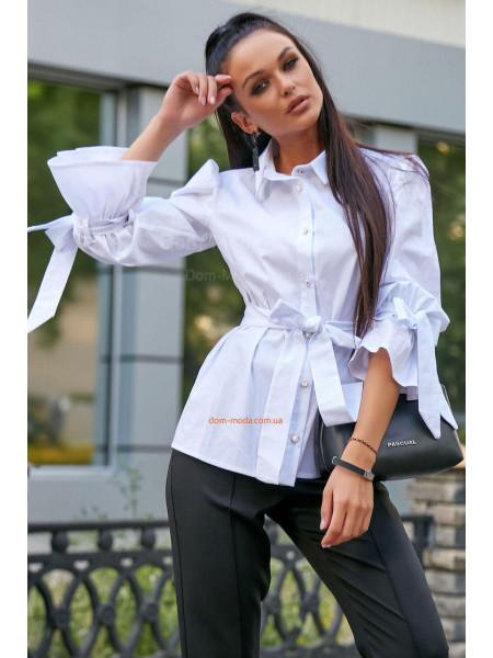Жіноча подовжена рубашка із поясом