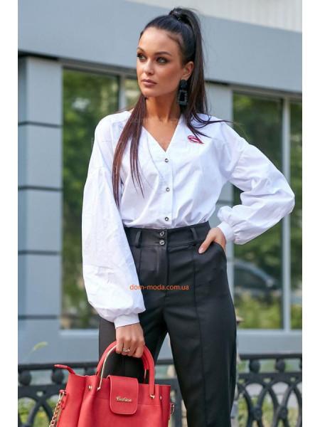 Молодіжна жіноча сорочка із вишивкою