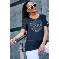 Жіноча модна футболка із невеликим рукавом