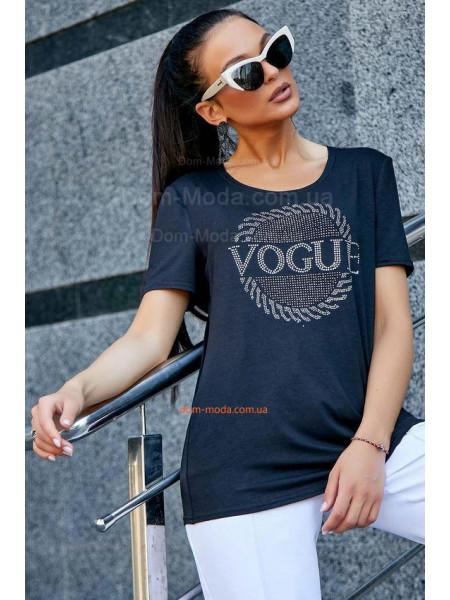 Женская модная футболка с небольшим рукавом