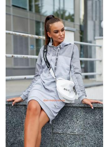 Жіноче тепле плаття із капюшоном для повних дівчат