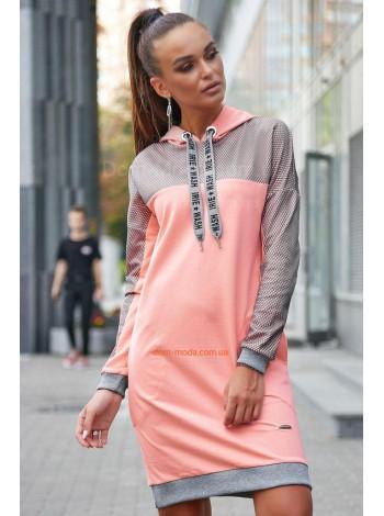 Жіноче тепле плаття із капюшоном