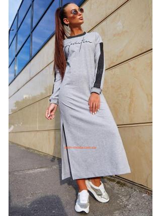 Жіноча довга сукня із розрізами
