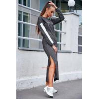 Жіноча довга сукня із розрізами для повних