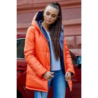 Женская двухсторонняя зимняя куртка