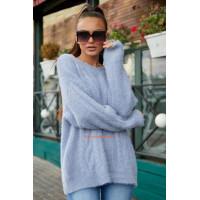Стильний теплий в'язаний светр