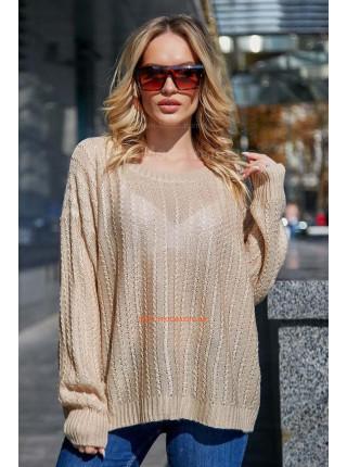 Модный женский джемпер с длинным рукавом