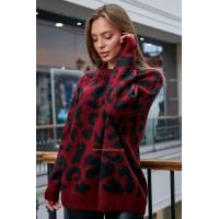 Женский теплый свитер с длинным рукавом