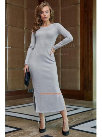 Жіноча модна сукню міді із розрізами