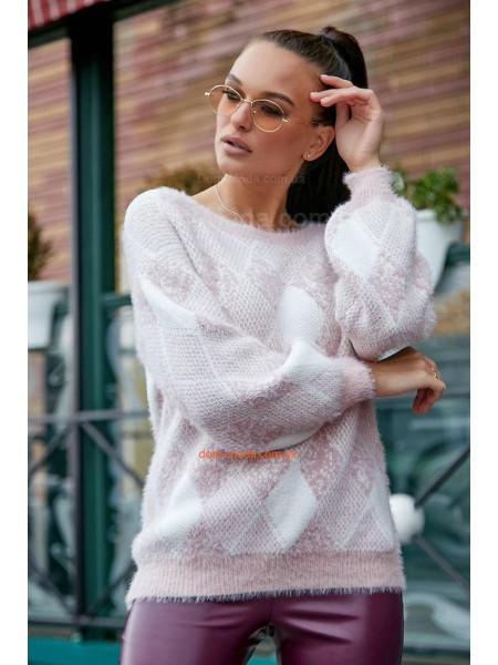 Жіночий стильний джемпер із об'ємними рукавами