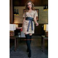 Стильне коротке плаття в леопардовий принт