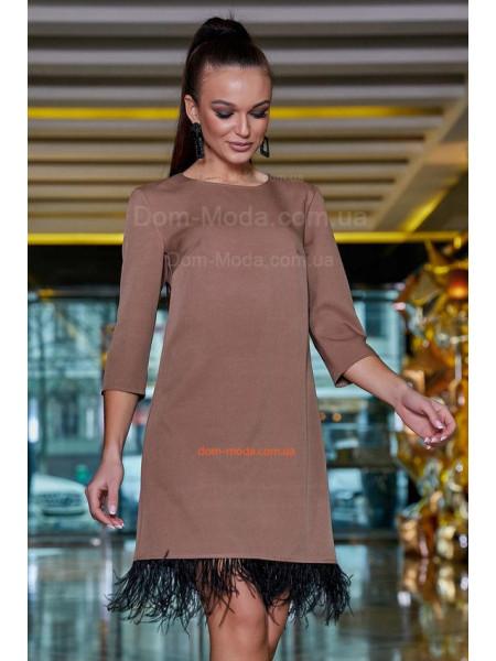 Модне вечірнє плаття трапеція із бахромою