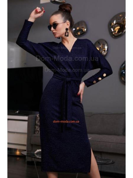 Модне плаття на запах із довгим рукавом