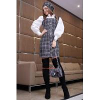 Жіночий модний твідовий сарафан