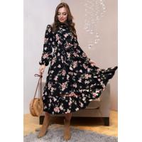 Стильне плаття міді в квітковий принт