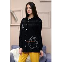 Стильна жіноча рубашка із довгим рукавом