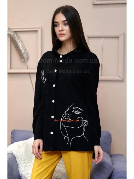 Стильная женская рубашка с длинным рукавом