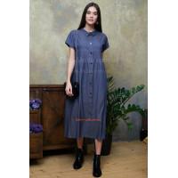 Стильне плаття міді із коротким рукавом
