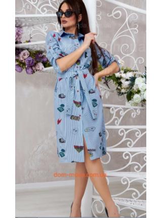 Плаття рубашка в принт
