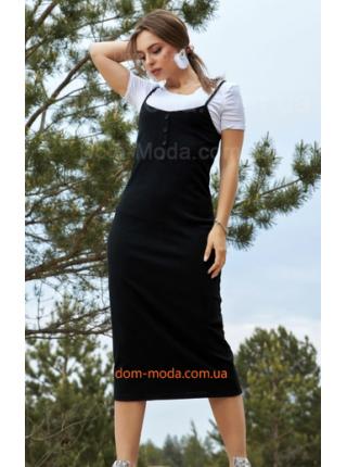 Жіночий сарафан міді