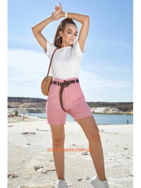 Короткие шорты с высокой талией